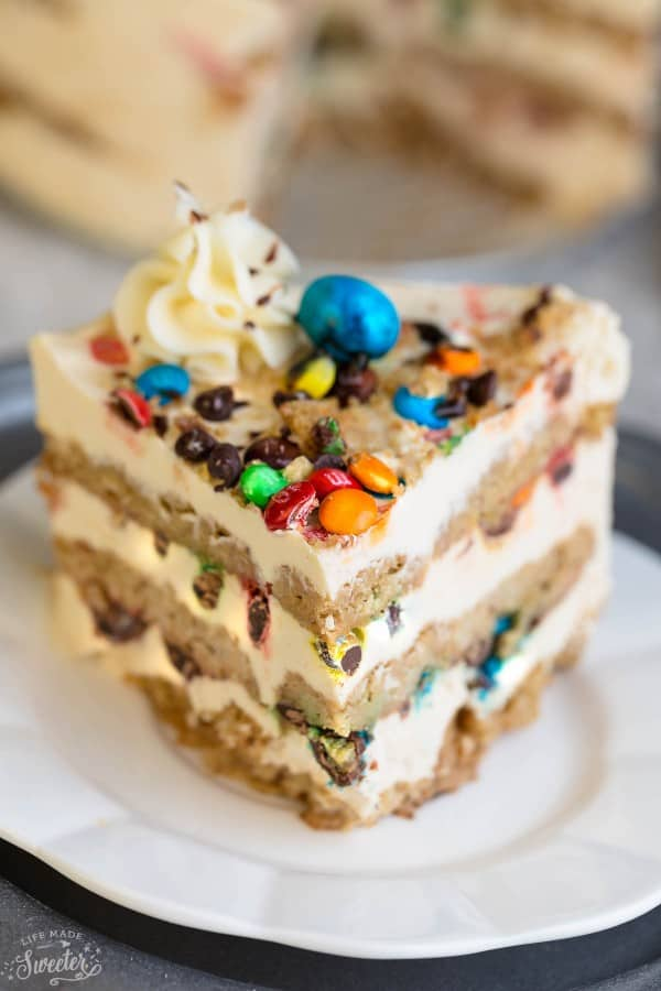 No Bake Monster Cookie Icebox Cake
