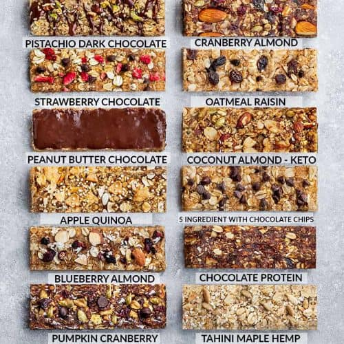 12 Best Healthy Homemade Granola Bars Gluten Free Keto Vegan Options