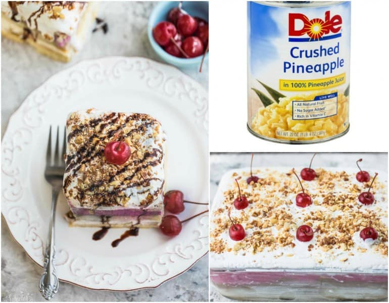 No Bake Banana Split Tiramisu Cake makes the perfect easy summer dessert!!