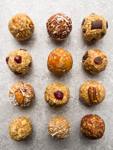 Healthy No Bake Energy Bites in 12 different flavors
