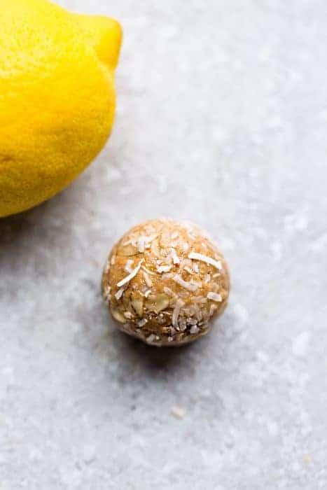 No Bake Lemon Coconut Energy Bites