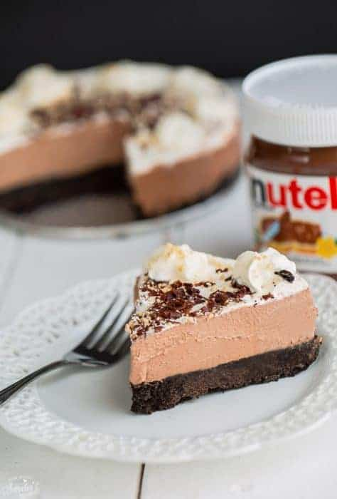 No-Bake Nutella Cheesecake Pie