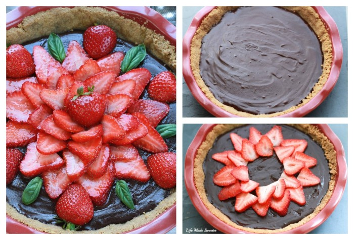 No-Bake Strawberry Chocolate Ganache Pie makes an easy and impressive dessert perfect for summer gatherings.