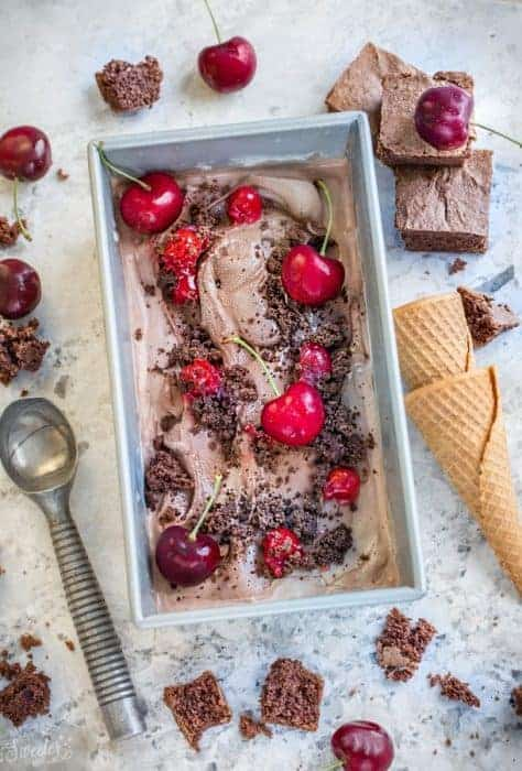 No Churn Black Forest Ice Cream + VIDEO