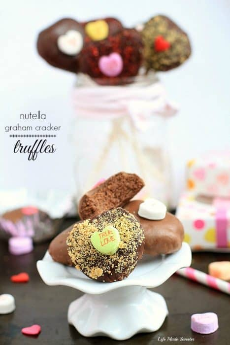 Nutella Heart Graham Cracker Truffles by @LifeMadeSweeter