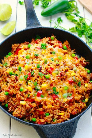 One Pan Mexican Rice Skillet