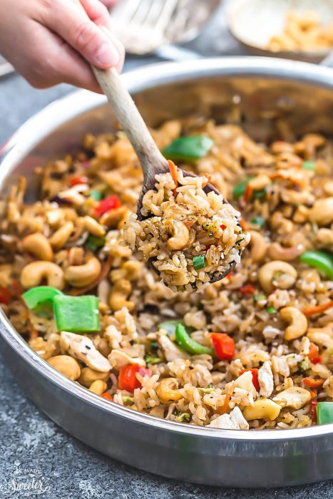One Pot Cashew Chicken Rice + Instant Pot GIVEAWAY
