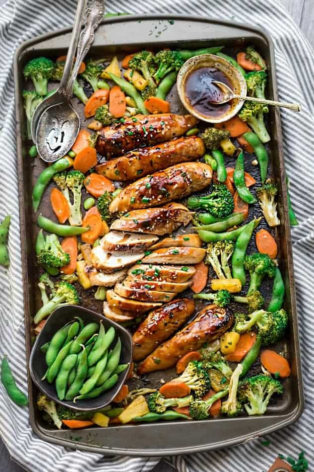 One pan teriyaki chicken with vegetables sciox Choice Image