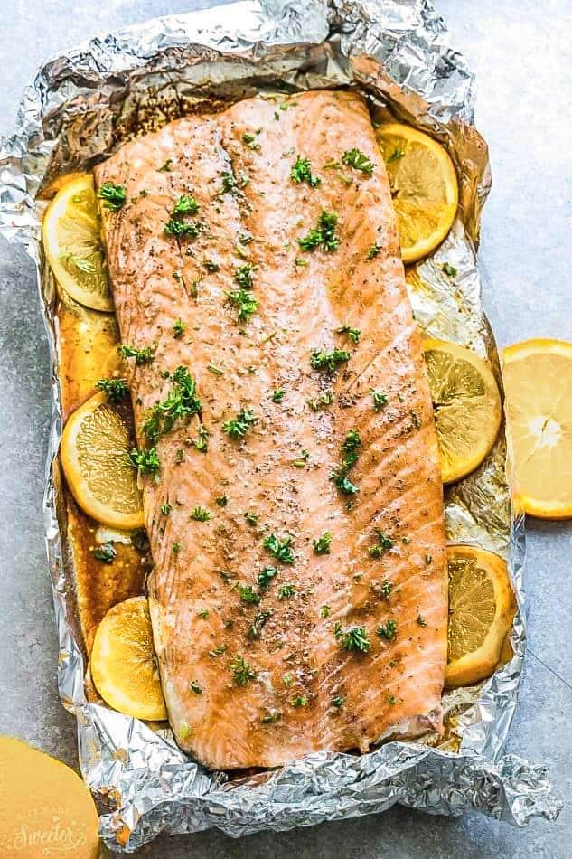 Oven Baked Salmon With Lemon In Foil Best Easy Keto