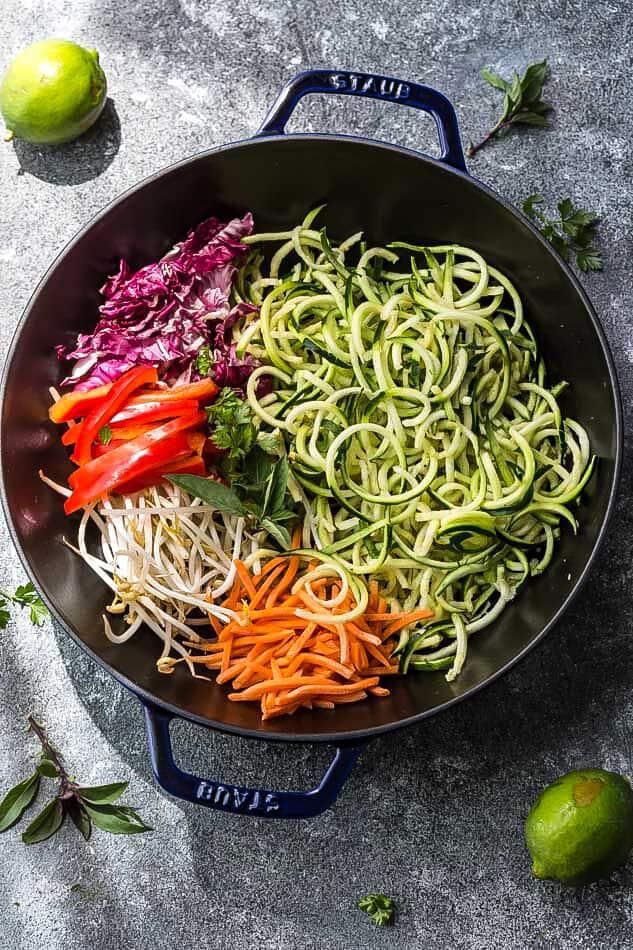 Pad Thai Zoodles Zucchini Noodles Photo Recipe Picture-2
