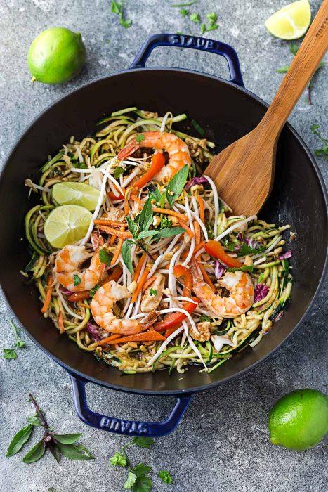 Pad Thai Zoodles {Zucchini Noodles}