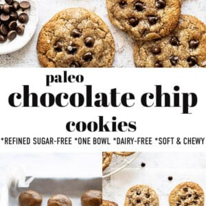 Pinterest image for Paleo Chocolate Chip Cookies