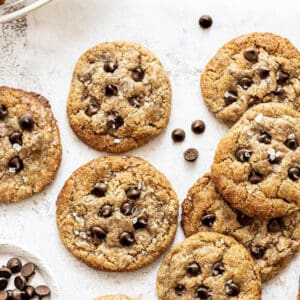 Pinterest image for paleo chocolate chip cookies.