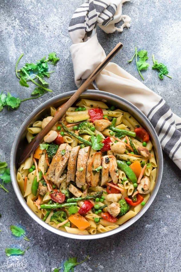 pasta primavera with chicken