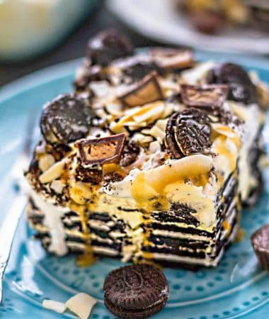 Peanut Butter Cup Oreo Icebox Cake