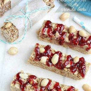 Peanut Butter and Jelly Granola Bars from ---by @LifeMadeSweeter