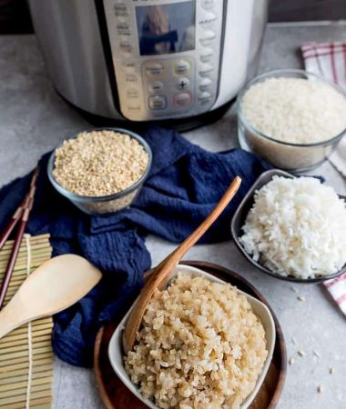 Instant Pot rice (white and brown rice)