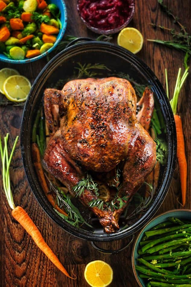 Thanksgiving Turkey How To Cook The Best Juicy Herb Roasted Turkey