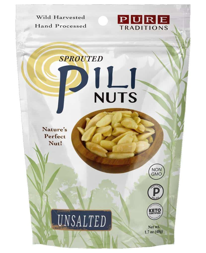 A bag of Sprouted Pili Nuts