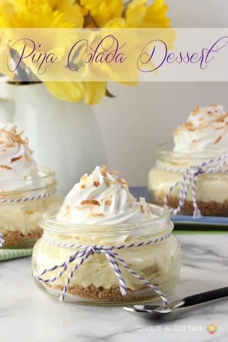Pina Colada Dessert Cups