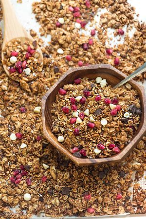 Pomegranate Double Chocolate Granola