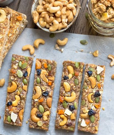 No Bake Pumpkin Cashew Butter Granola Bars