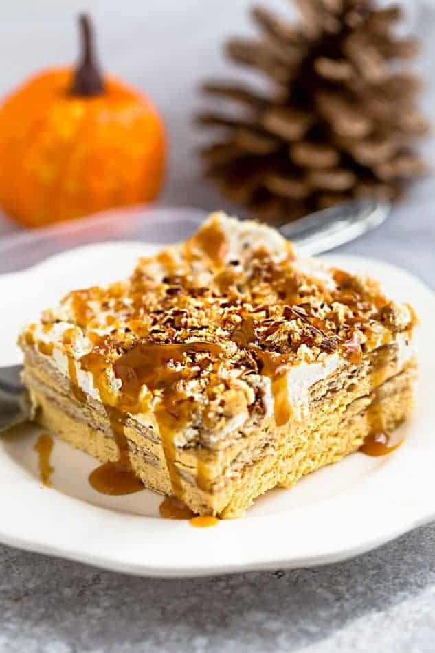 Pumpkin Icebox Cake + Easy No BAKE + Recipe VIDEO