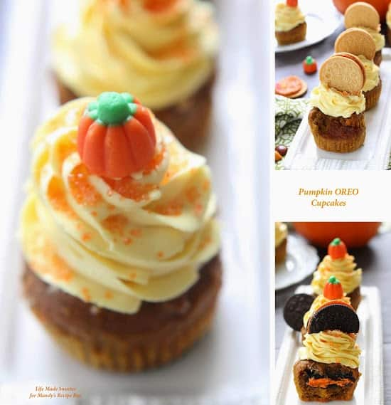 Pumpkin Oreo Cupcakes with Maple Cinnamon Frosting make the perfect fall treat