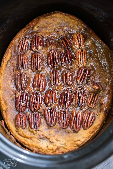 Crockpot Pumpkin Pecan Pudding Cake