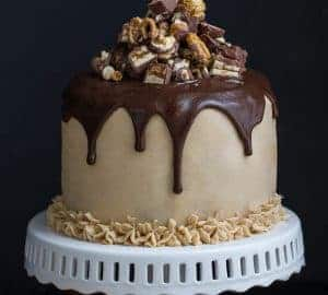 Admirable Pumpkin Snickers Layer Cake With Salted Caramel Frosting Funny Birthday Cards Online Hetedamsfinfo