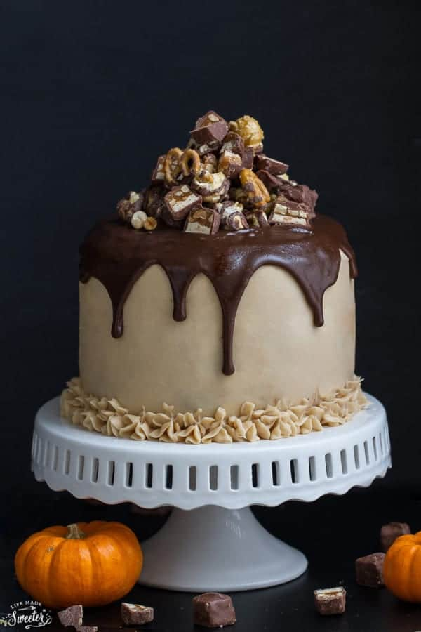 Cake Decoration At Coles : Pumpkin Snickers Layer Cake with Salted Caramel Frosting