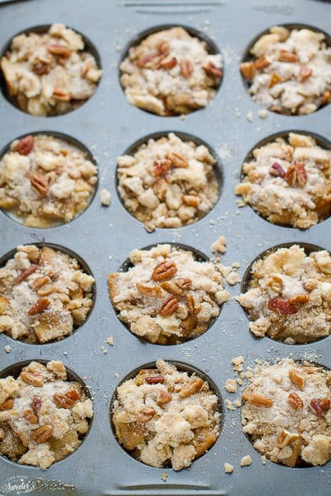 Pumpkin Streusel Nutella French Toast Cups make the perfect breakfast for special weekends