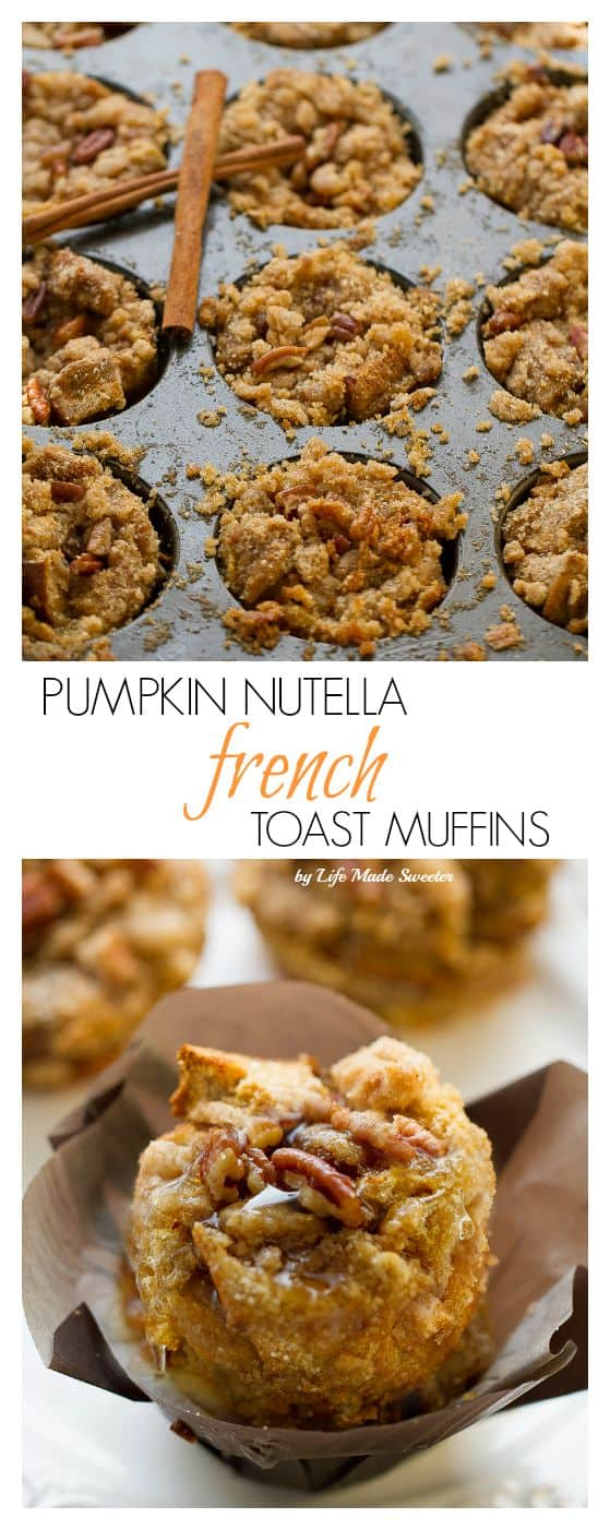 Pumpkin Streusel Nutella French Toast Cups make the perfect breakfast for special weekends!