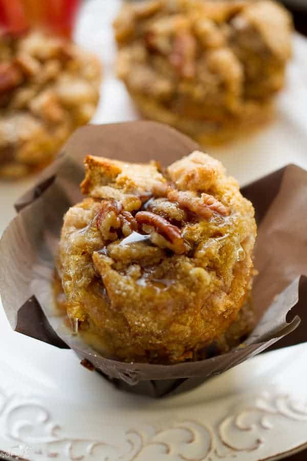 Pumpkin Streusel Nutella French Toast Cups make the perfect special weekend breakfast