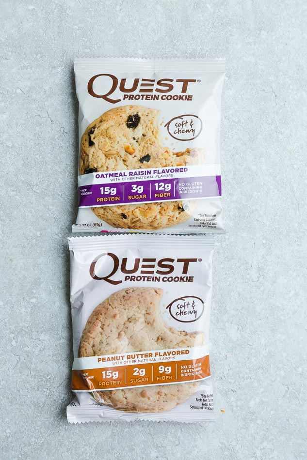 Top view of 2 Quest Cookies