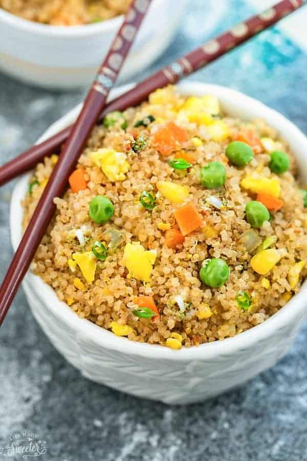 Instant Pot Quinoa Fried Rice Easy Weeknight Side Dish