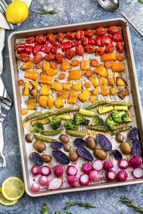 Rainbow Roasted Vegetables + Video