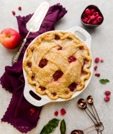 Easy Apple Raspberry Pie