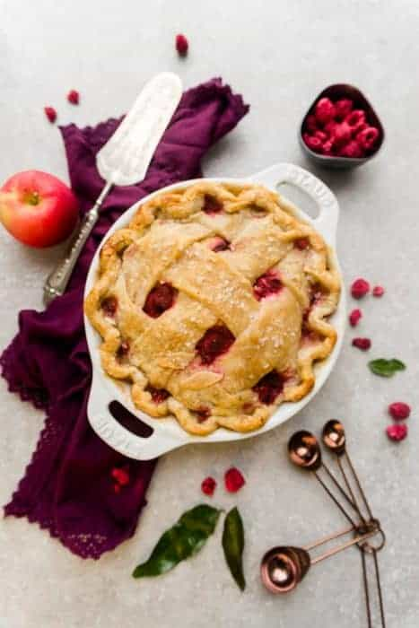 Easy Apple Raspberry Pie