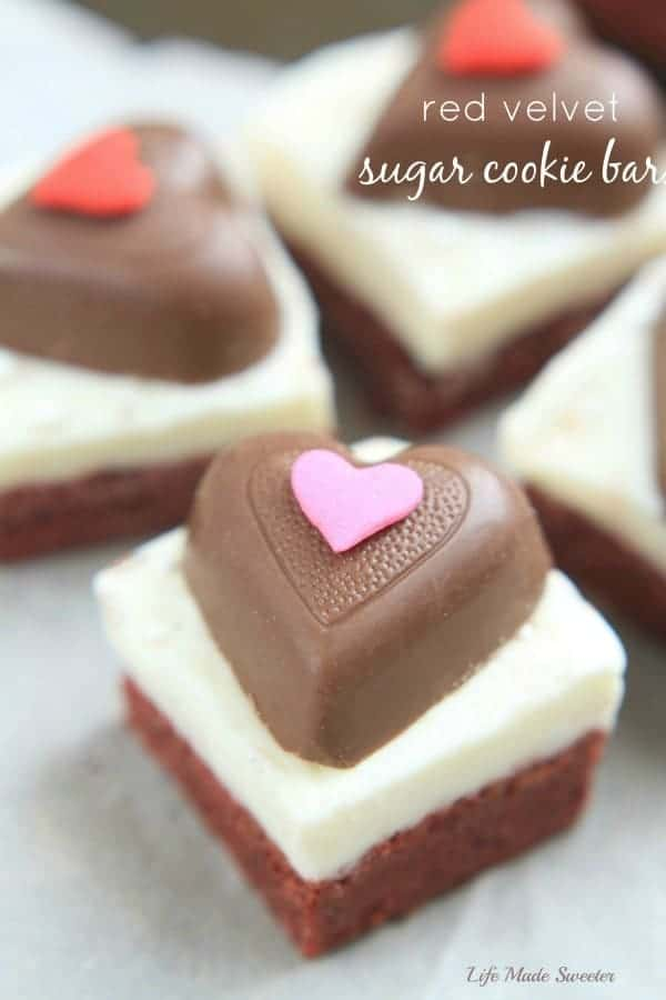 Red Velvet Sugar Cookie Bars with Cream Cheese Frosting - Life Made ...