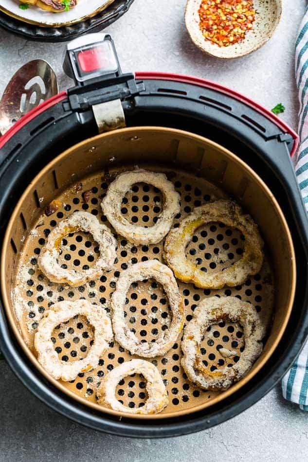 Delicata rings in an air fryer