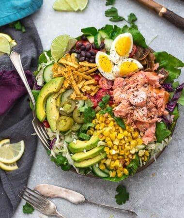 Salmon Taco Salad