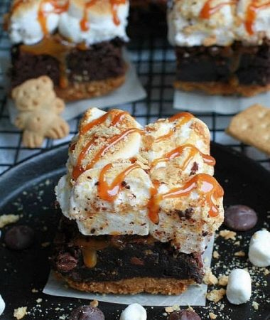 Salted Caramel S'mores Brownies combines two classic favorites and makes the perfect decadent treat!