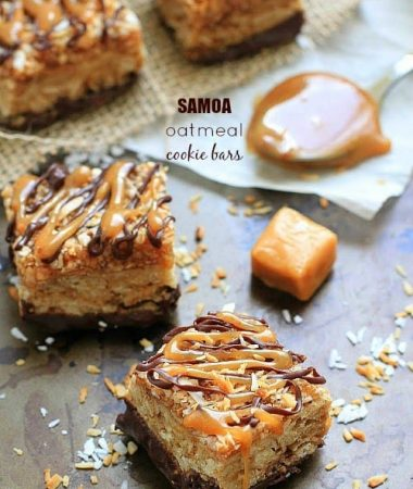Samoa Oatmeal Cookie Bars