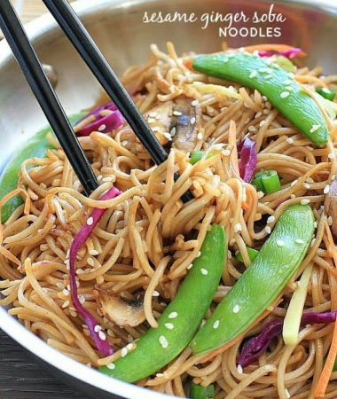 Sesame Ginger Soba Stir Fry Noodles by - @LifeMadeSweeter