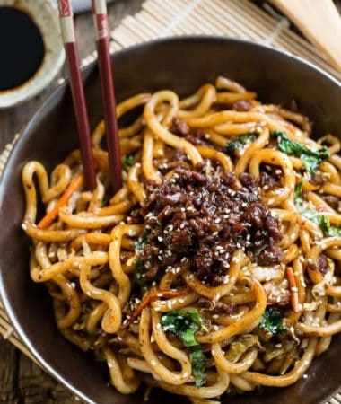 Shanghai Fried Noodles is the perfect easy weeknight meal!