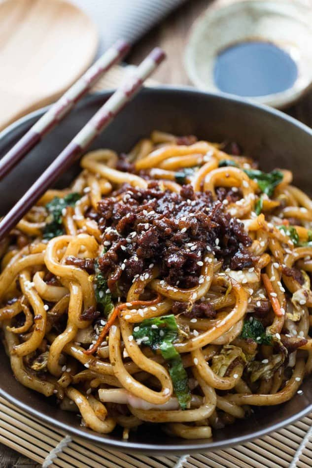 Shanghai Noodles is the perfect easy weeknight meal. Best of all, takes ONLY 20 minutes to make this authentic popular Chinese dish & better than takeout!