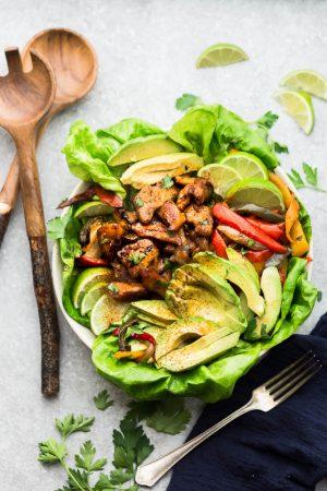 Low Carb Chicken Fajita Salad