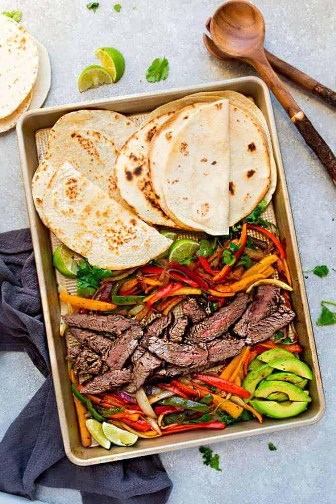 Sheet Pan Steak Fajitas One Pan Keto Low Carb Paleo