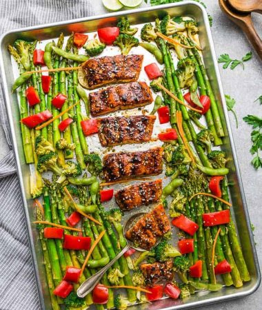 healthy sheet pan teriyaki salmon
